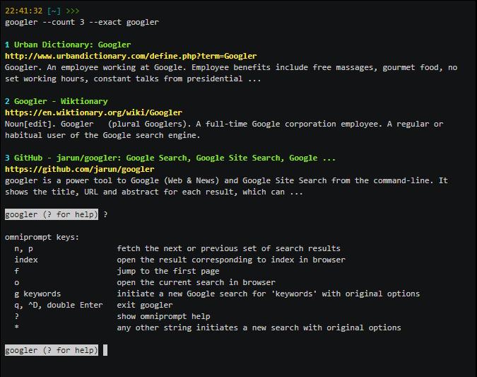 Googler – Busca en Google (y más) desde la línea de comandos