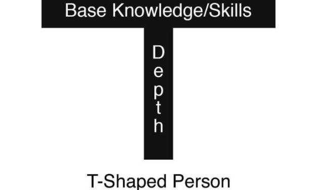 """Qué es un """"T-Shaped"""" developer (y el porqué deberías serlo)"""